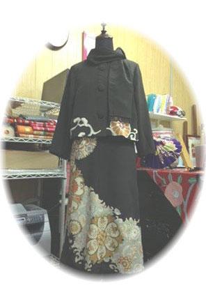 黒留袖の着物リメイク