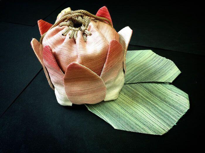 蓮の花巾着