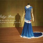 藍染ドレス