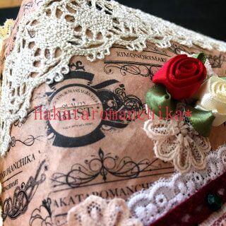 一閑張りBOX・デコレーション薔薇
