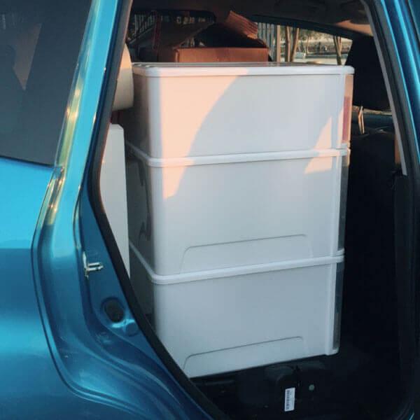 車の荷物の詰め込み