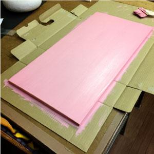 看板の作り方・ペンキを乾かす