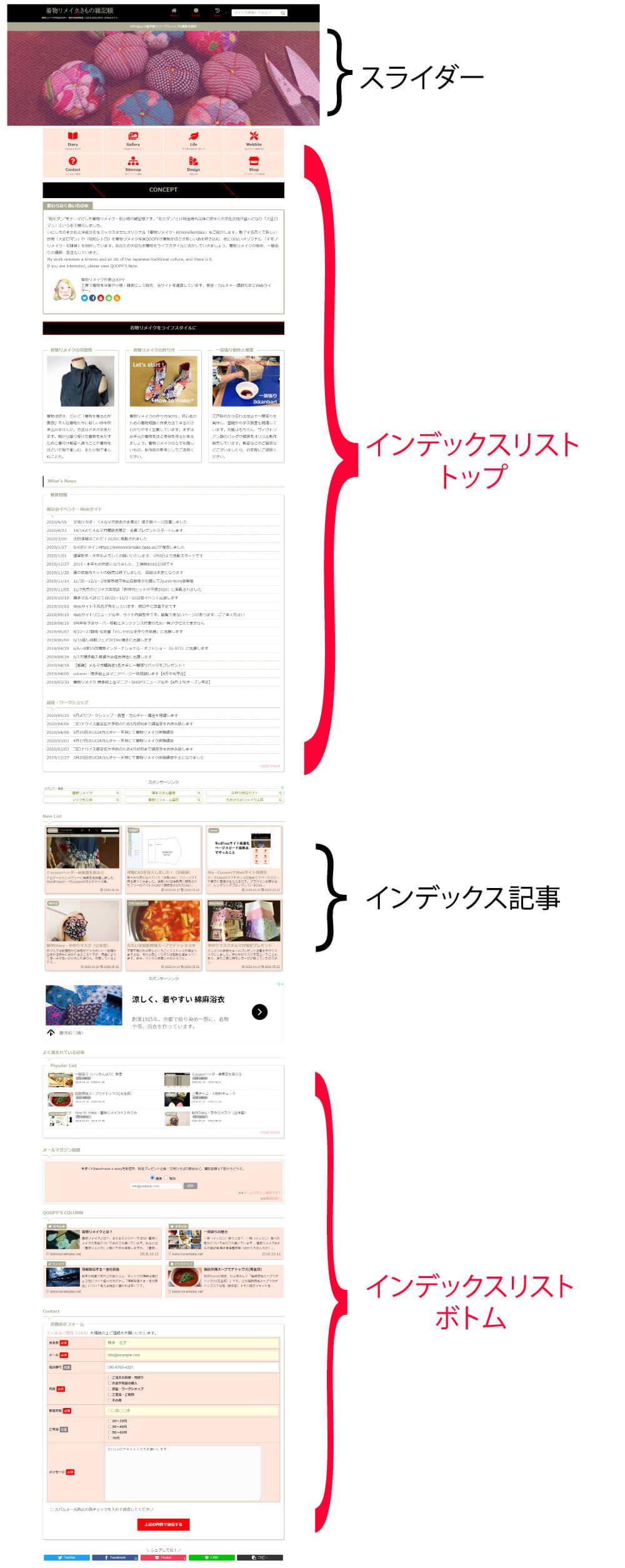 フロントページ